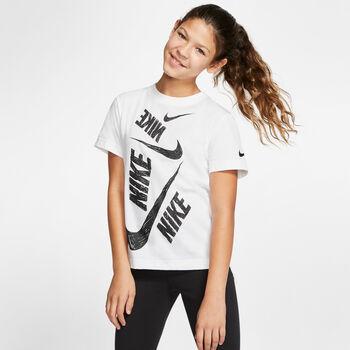 Nike Sportswear Swoosh shirt Meisjes Wit