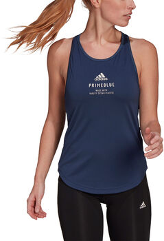adidas Run for the Oceans Graphic Tanktop Dames Blauw