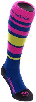Brabo Striped hockeysokken Dames Blauw