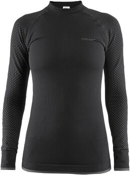 Craft Warm Intensity Long Sleeve ondershirt Dames Zwart