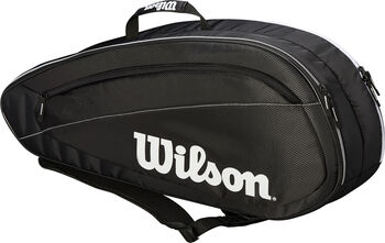 Wilson Federer Team 6-racket tas Zwart