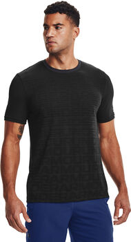Under Armour Seamless Wordmark shirt Heren Zwart