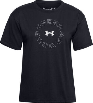 Under Armour Wordmark Graphic t-shirt Dames Zwart