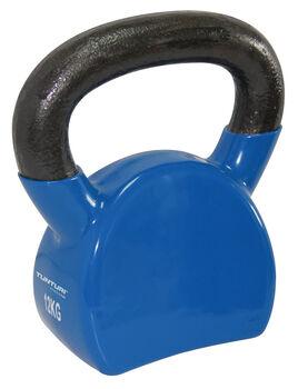 tunturi vinyl kettlebell 12kg, blue Blauw