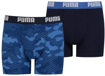 Puma Camo Aop kids boxer (2 paar) Jongens Blauw