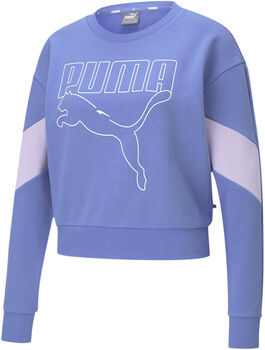 Puma Rebel Crew sweater Dames Blauw