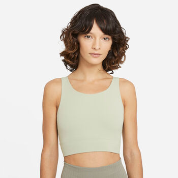 Nike Yoga Luxe top Dames Groen