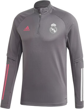 adidas Real Madrid trainingsshirt 20/21 Heren Grijs