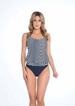 Bomain Zebra tankini Dames Blauw