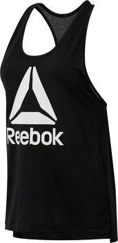 Reebok Workout Ready Supremium 2.0 Big Logo top Dames Zwart