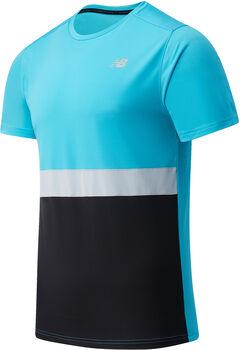 New Balance Striped Accelerate shirt Heren Blauw