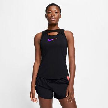 Nike Running tanktop Dames Zwart