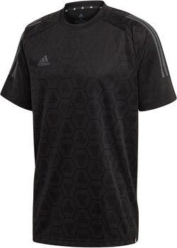 ADIDAS TAN Jacquard voetbalshirt Heren Zwart