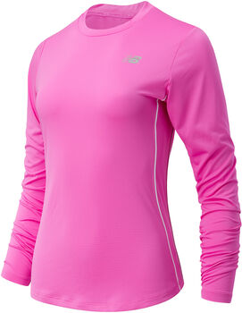 New Balance Accelerate Long Sleeve shirt Dames Rood