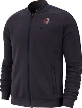 Nike Paris Saint-Germain GFA Fleece trainingsjack Heren Zwart