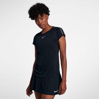 Nike Court Dry shirt Dames Zwart