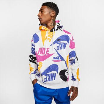 Nike Sportswear Club Printed hoodie Heren Blauw