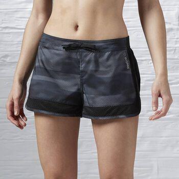 Reebok Workout Camo Short Dames Zwart