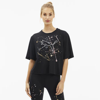 Puma Metal Splash Graphic shirt Dames Zwart