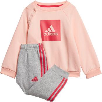 adidas 3-Stripes Fleece Joggingpak Meisjes Oranje
