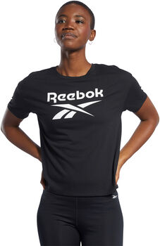 Reebok Workout Ready Supremium Logo shirt Dames Zwart