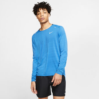 Nike Techknit Utlra longsleeve Heren Blauw