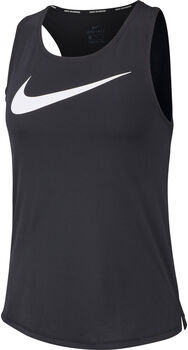 Nike Swoosh Run top Dames Zwart