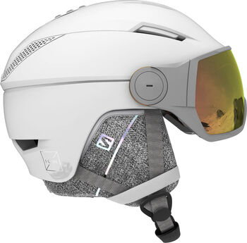 Salomon Icon Visor Photo skihelm Dames Wit