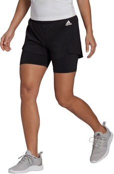 adidas Primeblue Designed To Move 2-in-1 Sport Short Dames Zwart