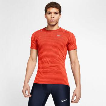 Nike TechKnit Ultra Hardloopshirt korte mouw Heren Oranje
