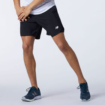 New Balance Fast Flight 2-in-1 short Heren Zwart