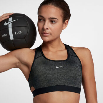Nike Swoosh Champs sportbeha Dames Zwart