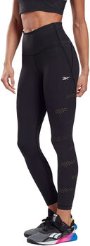 Reebok High-Rise Lux Perform Perforated legging Dames Zwart