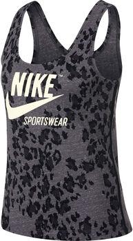 Nike Sportwear Gym Vintage Leopard top Dames Zwart