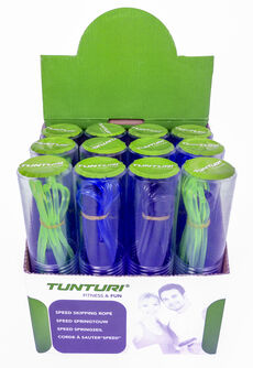 tunturi jumprope 12pcs in color display