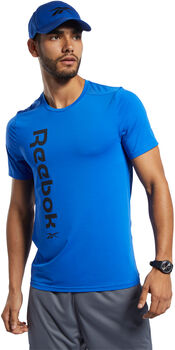 Reebok Workout Ready ACTIVCHILL shirt Heren Blauw