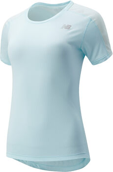 New Balance Impact Run shirt Dames Blauw