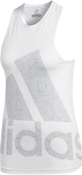 adidas Climalite Logo tanktop Dames Wit
