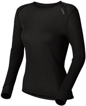 Odlo shirt l/s crew neck warm Dames Zwart