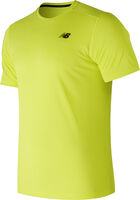New Balance Heat Run shirt Heren Geel
