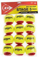 Dunlop stage 3 rood (dozijn verpakking) Geel
