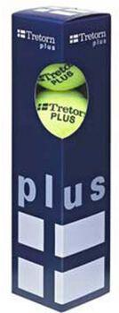 Tretorn Plus 4-pack tennisballen Geel