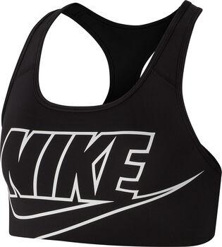 Nike Swoosh Futura sportbeha Dames Zwart