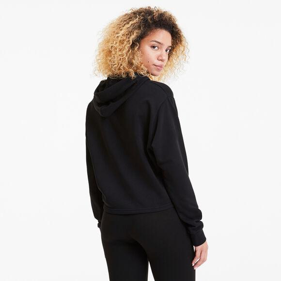 Essential Metallic Cropped hoodie