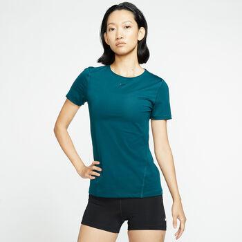 Nike Pro shirt Dames Turquoise