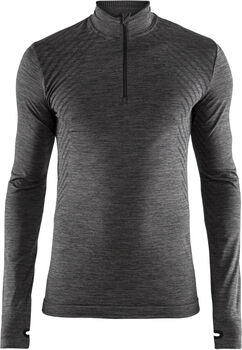 Craft Fuseknit Comfort 1/4-Zip top Heren Zwart