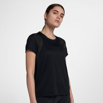 Nike Run shirt Dames Zwart