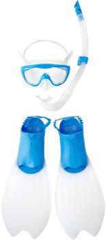Speedo Glide Scuba jr masker + snorkel Blauw