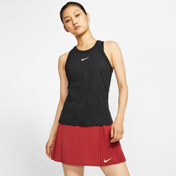 Nike Court Dry top Dames Zwart