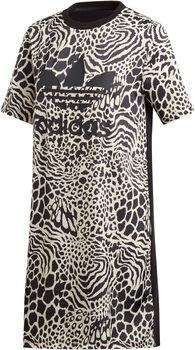 ADIDAS Animal Print T-shirt jurk Dames Wit